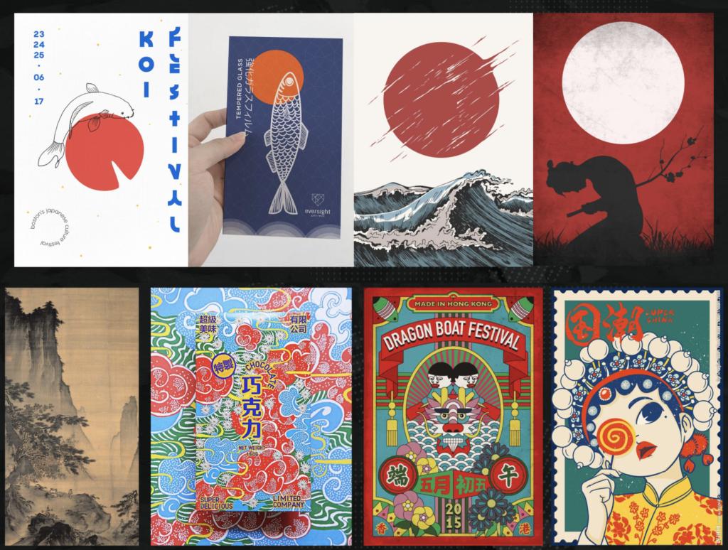 Các Artwork của Văn Hóa Nhật Bản và Trung Quốc